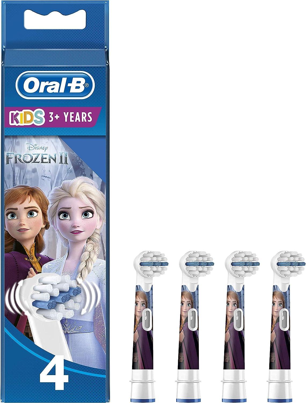 Oral-B Stages Power - Cabezal de recambio para cepillo eléctrico, con los Personajes de Frozen, Pack de 4