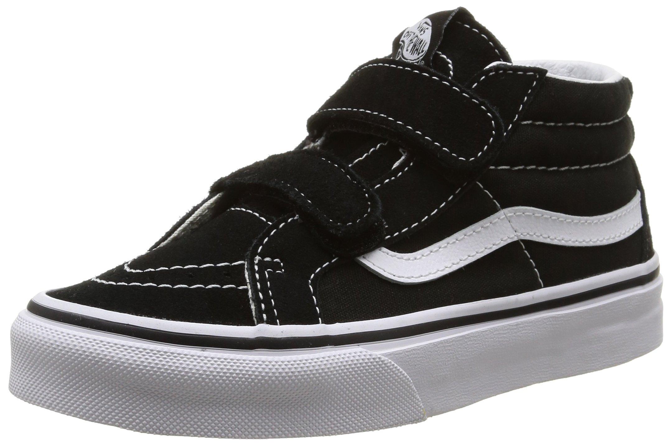 Vans Kids Sk8-Mid Reissue V Skate Shoe Black/True White 1