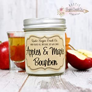 Apples and Maple Bourbon Scented Candle, Birthday, Christmas Candle, Gift For Him, Holiday Gift, Bourbon Gifts For Men, Bourbon Lover Gift