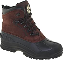 Khombu Rugged Exposure Mens Mammoth II Waterproof Winter Boots Dark Brown