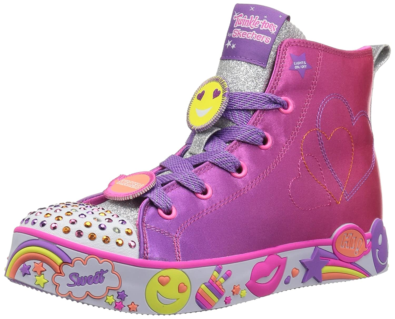 Skechers Kids' Happy Lites-Positive Princess Sneaker