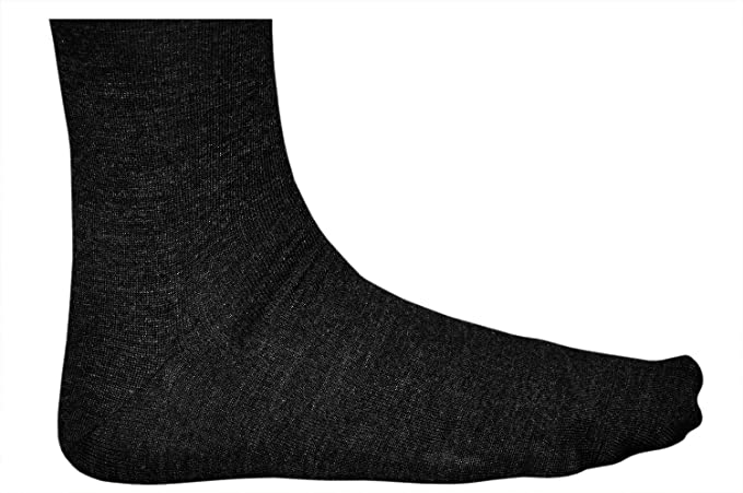 Amazon.com: Vitsocks MERINO WOOL Socks for Men Warm Long Knee-High for Winter Chilly Weather, black, 11-11.5: Clothing