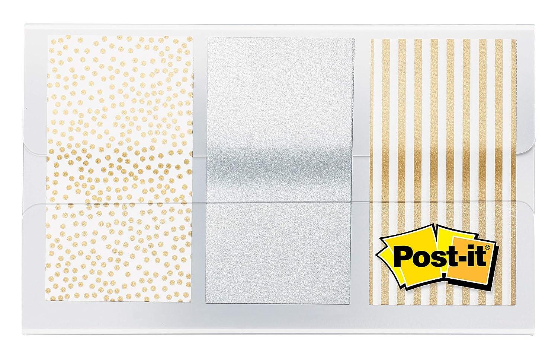 Metal Color.94 in x 1.7 in 60 Flags per Dispenser 682-METAL Post-it Flags