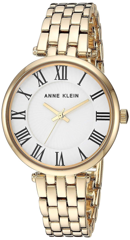 Anne Klein Women s AK 3322 Roman Numeral Metal Bracelet Watch