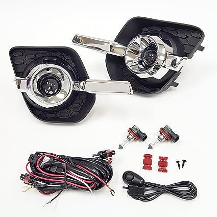amazon com: ledin for 2010-2015 chevrolet equinox projector fog driving lights  kit with bezel wire harness bulbs: automotive