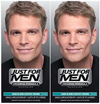 ea17d92f9 Just For Men Shampoo-In Hair Color - Dark Blond/Lightest Brown - 2 pk