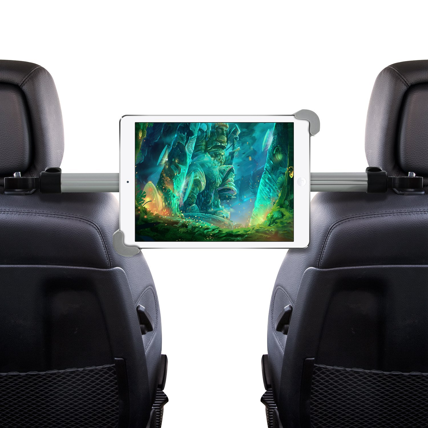 Okra Universal Tablet Car Headrest Grip Mount Center Holder, with 360 Degree Rotation- for Apple iPad, Samsung Galaxy Tab and all Tablets up to 11 Inch