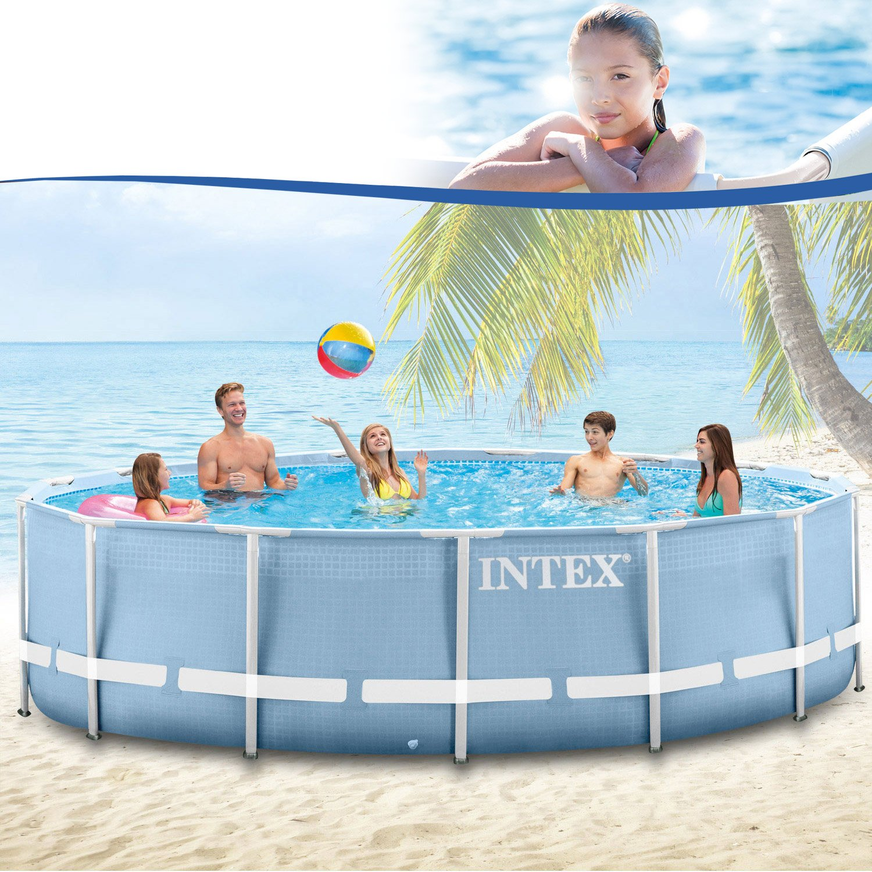 Premium-Pool 457x122 cm Schwimmbad Metallrahmen: Amazon.de: Garten