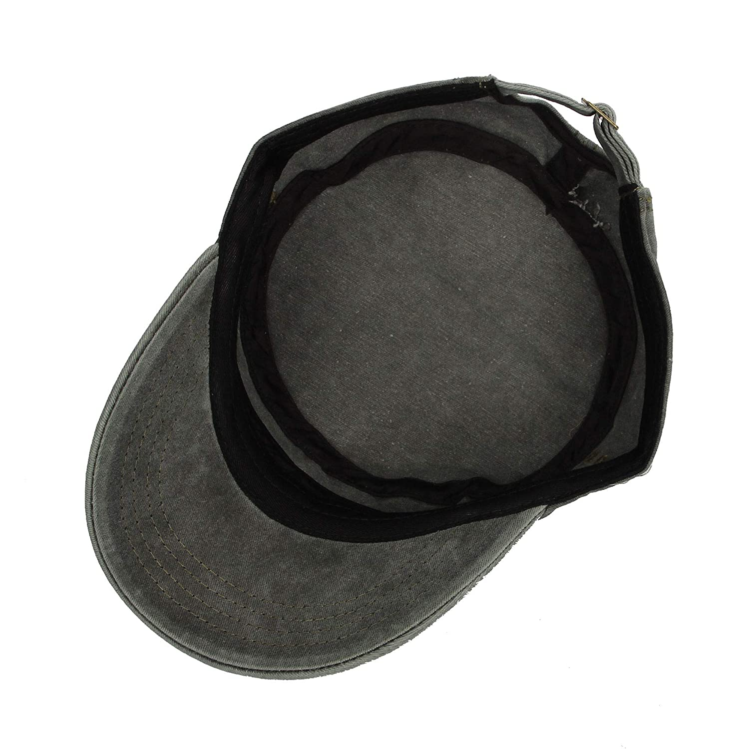 WIM Cappello Militare Cadetto Washed Cotton Cadet cap Vintage Military Army Hat Mens Womens KZ40037