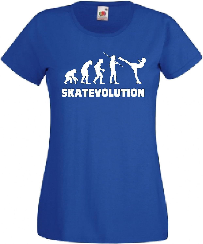 CHEIDEASTORE T-Shirt Maglietta SKATEVOLUTION Pattinaggio Ghiaccio Bambina