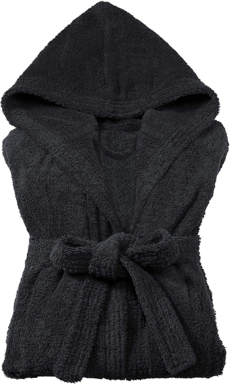 XL CelinaTex Fehmarn Damen Bademantel mit Kapuze Baumwolle Saunamantel Frottee Morgenmantel Gr/ö/ße XS