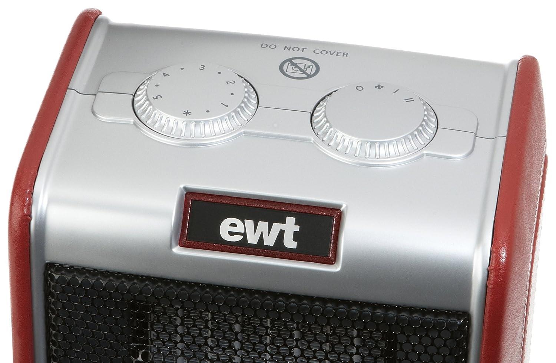 avec r/églage du thermostat en continu et lampes de contr/ôle EWT Chauffage en c/éramique Clima Ceramic 600 TLS 1800 W