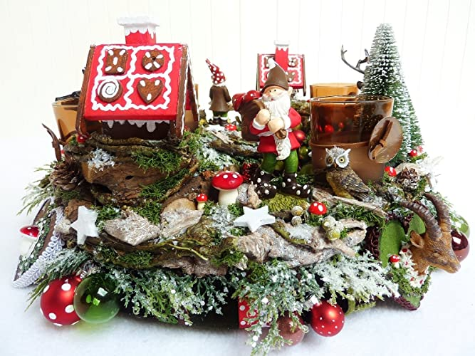 Märchen Weihnachten 2019.Adventskranz Knusperhäuschen Tischdeko Deko Weihnachten Vintage