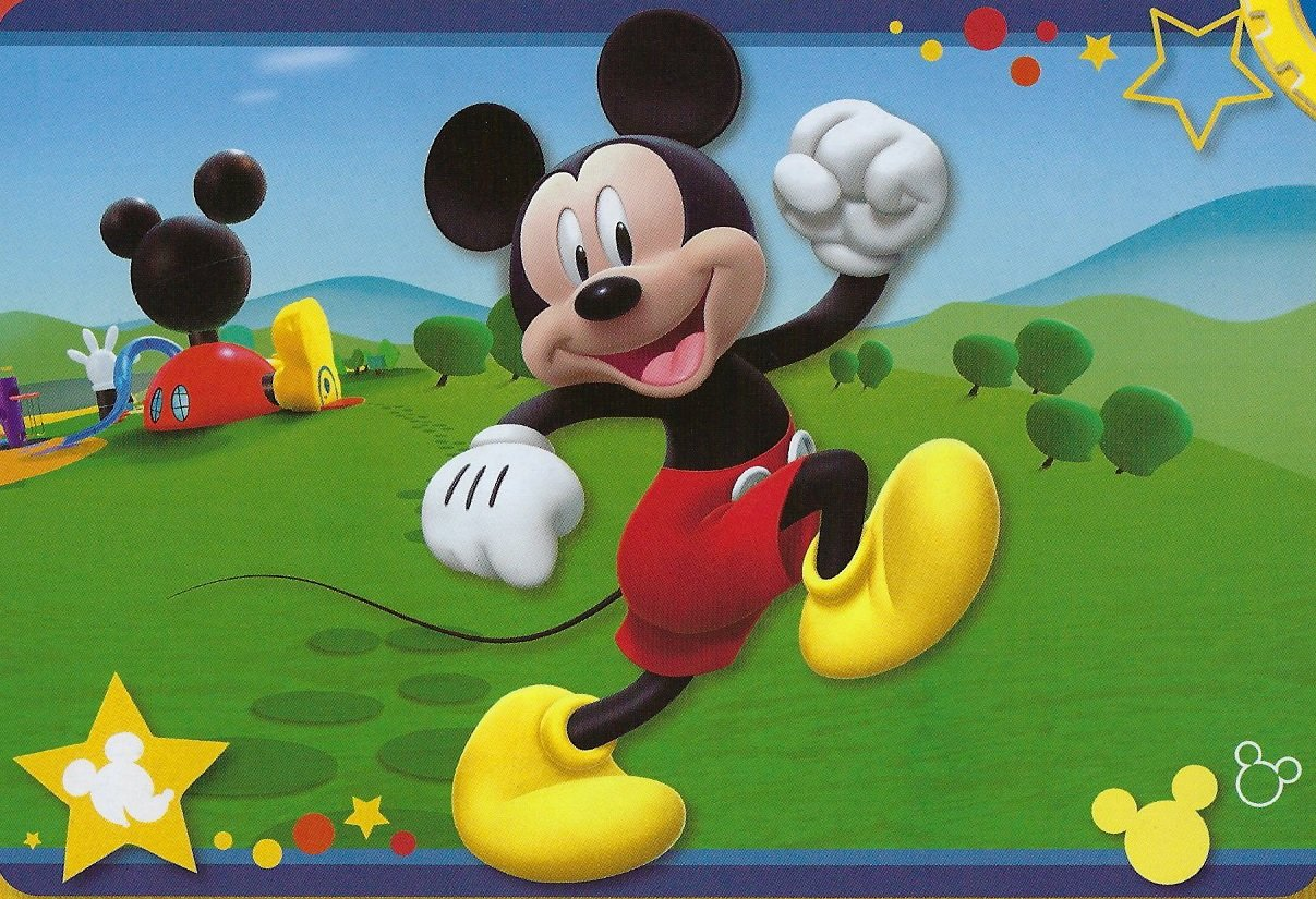 Large Disney 54''x80'' Extra Soft Non-Slip Back Area Rug (Mickey Mouse Clubhouse)
