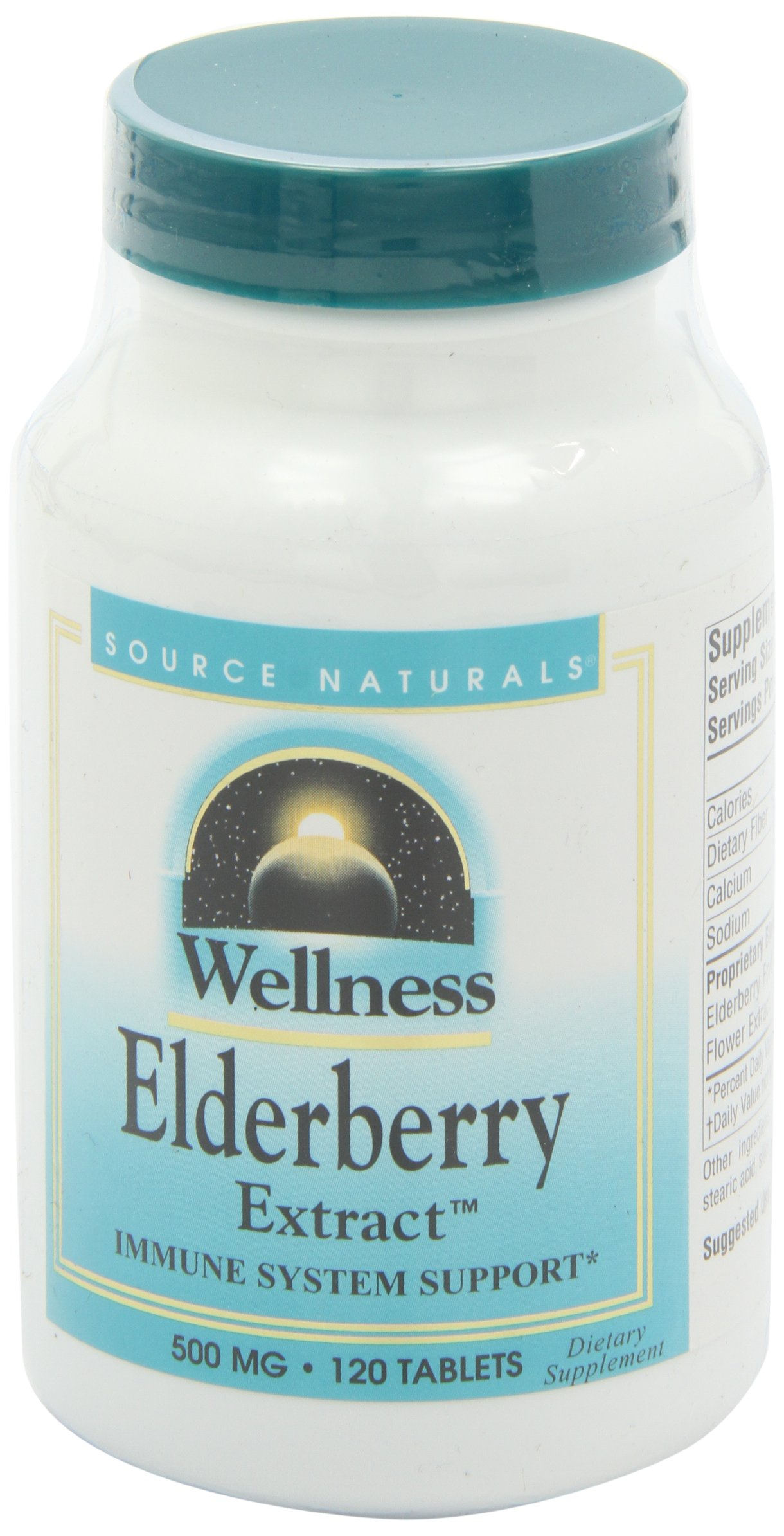 Source Naturals Wellness Elderberry Extract, Immune System Support 120 Tablets