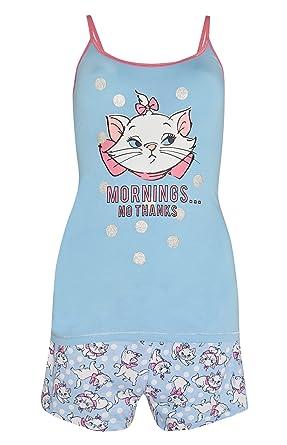 b678950ec0 Disney The Aristocats Marie Ladies Girls Womens Cami Vest Shorts Pajamas  Pyjamas PJ Set UK S-XL (UK Large 14-16)  Amazon.co.uk  Clothing