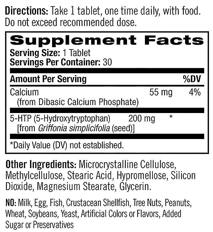 Natrol 5-HTP 200mg Time Release Standard - 30 Cápsulas: Amazon.es: Salud y cuidado personal