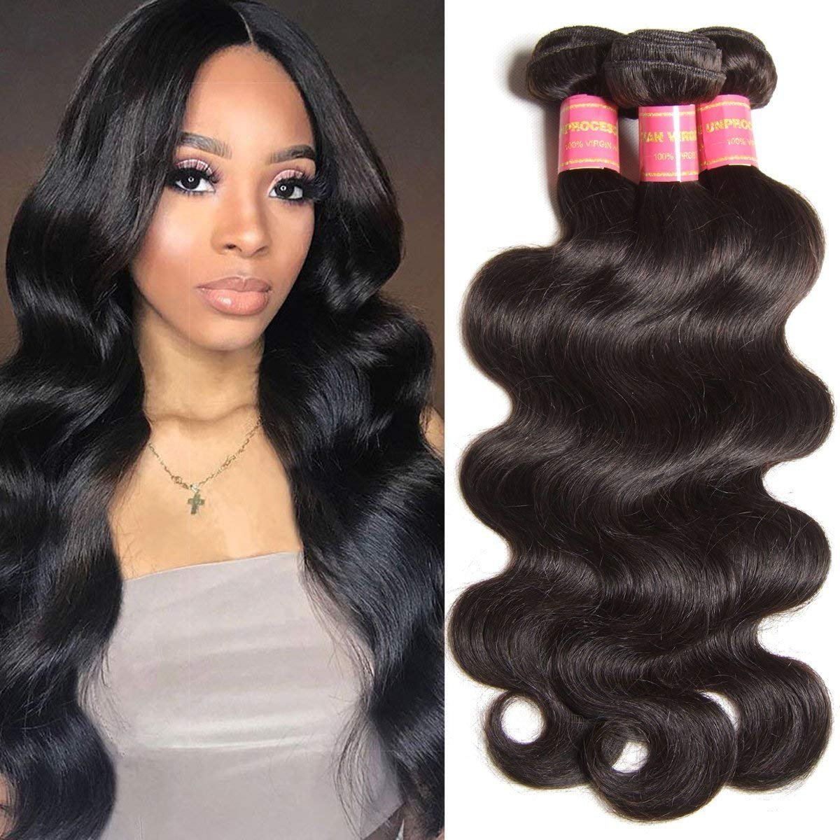 Amazon Yiroo Hair Brazilian Hair Body Wave 3 Bundles 100