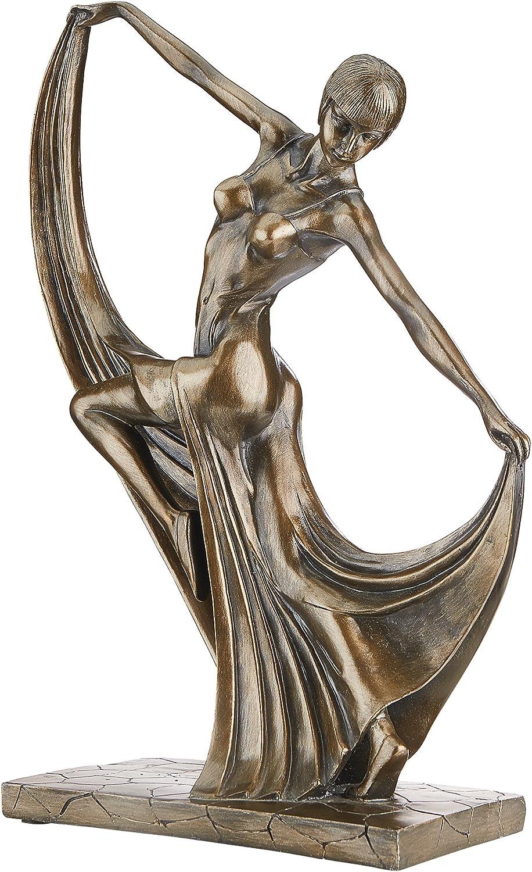 Design Toscano EU2156 Mistress of the Dance Art Deco Statue, bronze