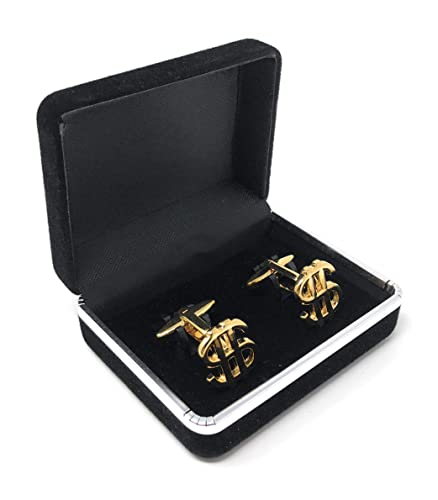Unikey Dollar Sign Cuff Links Suit Cuff Links Jewelry for
