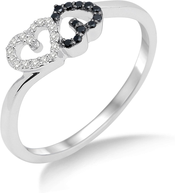 Miore MF8014R - Anillo de mujer de oro blanco (18k) con 28 diamantes