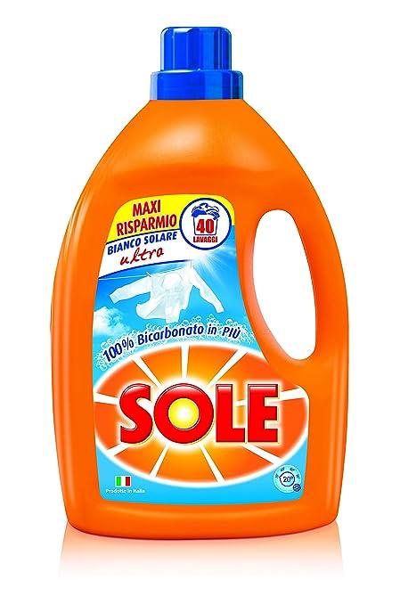 33 opinioni per Sole Bianco Solare Ultra Detersivo Liquido per Lavatrice- 3 pezzi da 2600 ml