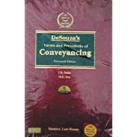 Desouza's Forms and Precedents of CONVEYANCING (Famous Book on Drating of Deeds in English)