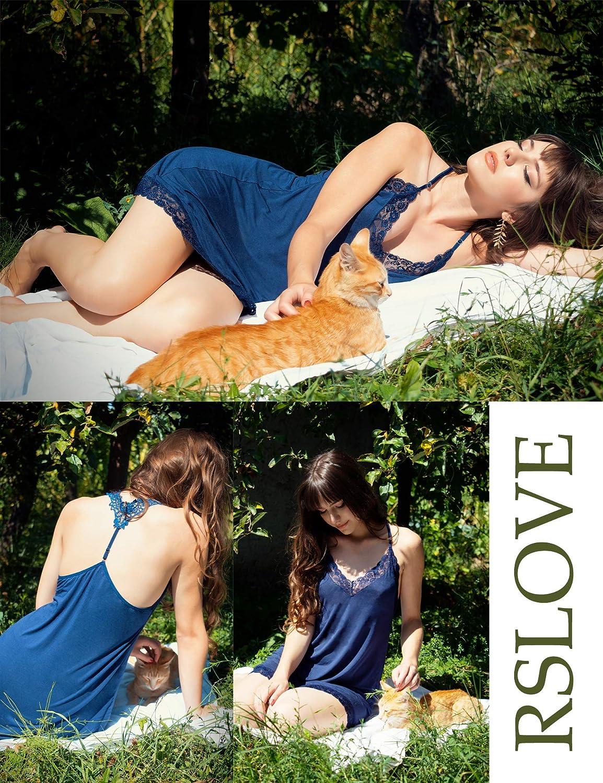 RSLOVE Donna Pizzo Lingerie Pigiami Camicia da Notte Camicie Camicia da Notte Pigiami Babydoll Colletto Slip