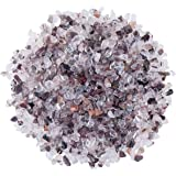 SUNYIK Phantom Quartz Tumbled Chips Crystal Crushed Pieces Irregular Shaped 1pound(About 460 Gram)