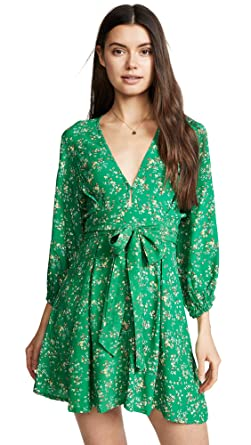 Faithfull The Brand Women s Wovens Margot Floral Plunge Dress Swim Cover Up  at Amazon Women s Clothing store  d49e6479f