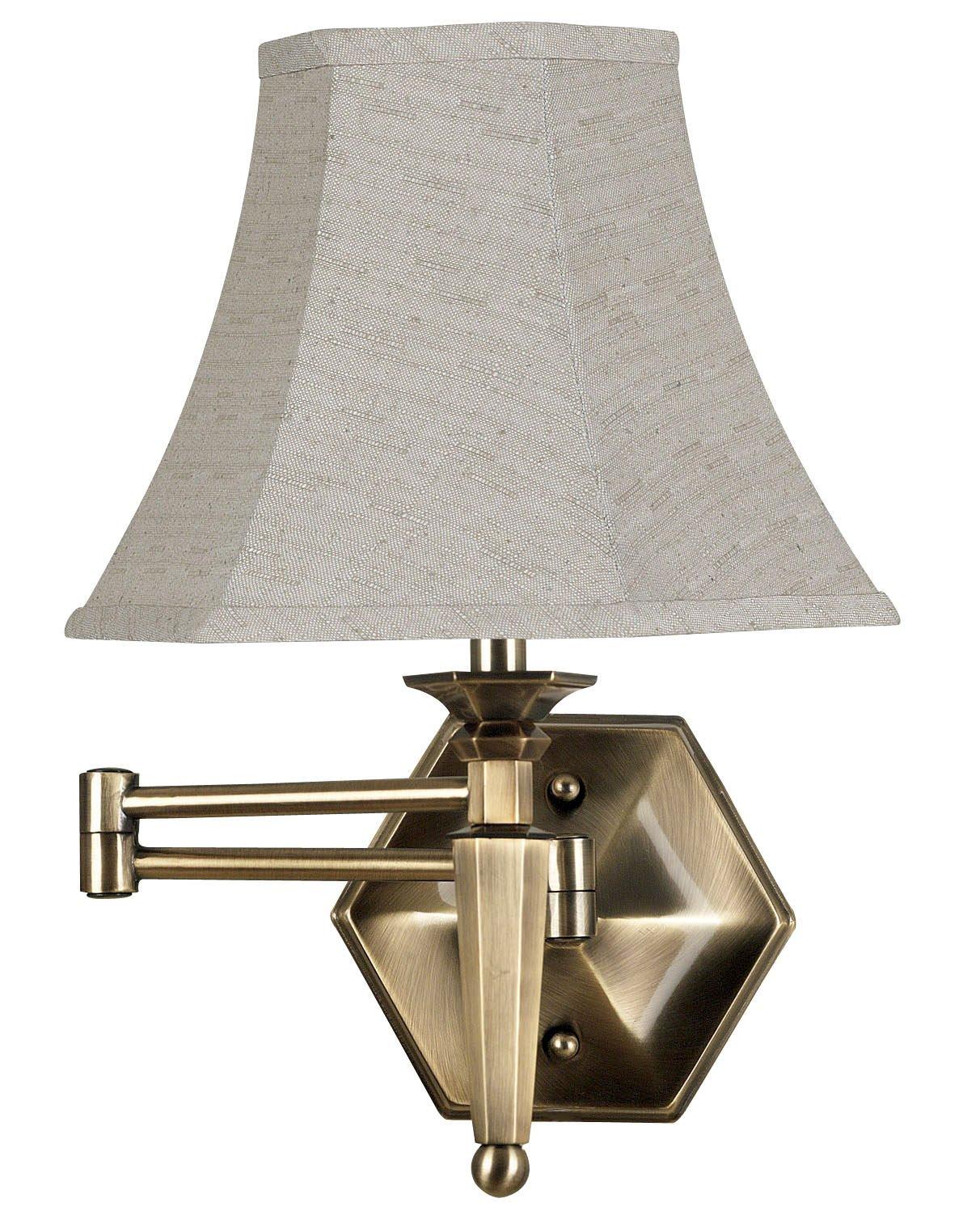 Kenroy Home 20618GBRZ Mackinley Wall Swing Arm Lamp, Georgetown Bronze