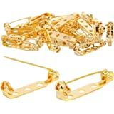 TRIXES 100PC Brooch Pins – Safety Clasp with Back Bar Fastener - 25mm