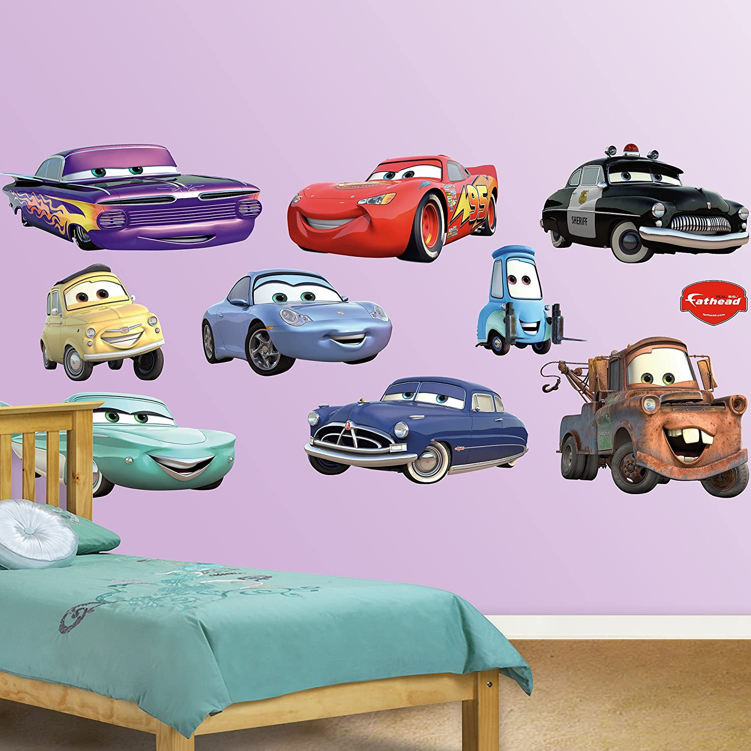 Amazon.com: FATHEAD Disney/Pixar Cars Collection Graphic Wall Décor: Home U0026  Kitchen