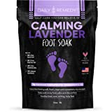 Calming Lavender Foot Soak with Epsom Salt, Made in USA, Antifungal Foot Soak Soothes Sore Tired Feet, Athletes Foot…