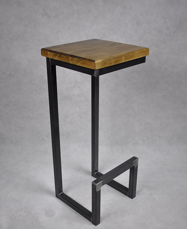 Magnetic Mobel Barhocker Stahl Holz Massiv C Style Barstuhl