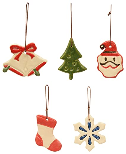Buy Pottery By Manjari Kanoi Ceramic Christmas Tree Decoration 6 X