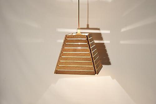 Abat Jour Design.Abat Jour En Bois De Chene Recycle Design Contemporaine