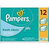 Pampers Feuchttücher Fresh Clean 2-Monatspack, 768 Tücher (12 x 64 Stück)