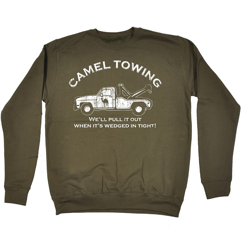 Amazon.com: 123t Slogans Men\'s Women\'s CAMEL TOWING WE\'LL PULL IT ...