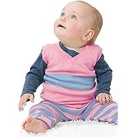 Merino Kids Merino Chaleco, Pink/Blue, Para Bebés 6-12 Meses