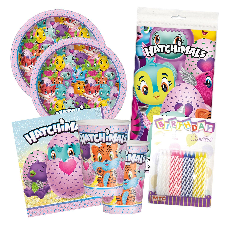 Hatchimals Birthday Party Tableware Deluxe Bundle Plates Napkins Serves 16