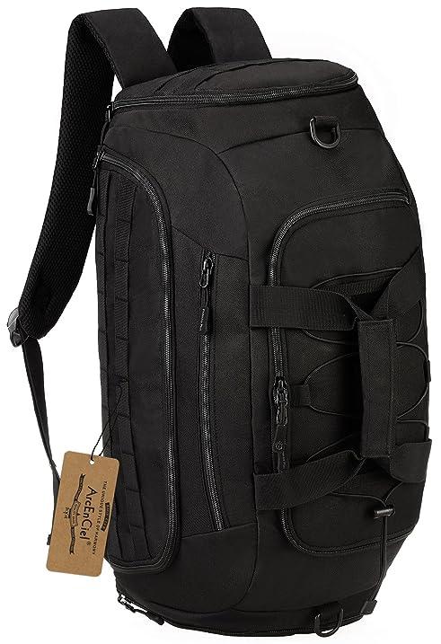 ArcEnCiel Men Gym Bag Backpack Rucksack Tactical Military Molle Shoulder Bags Waterproof Shoes Storage Sports Handbag
