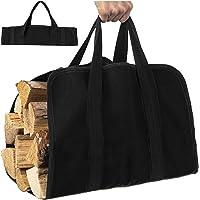 Encerado Log Carrier Tote Bag para la leña