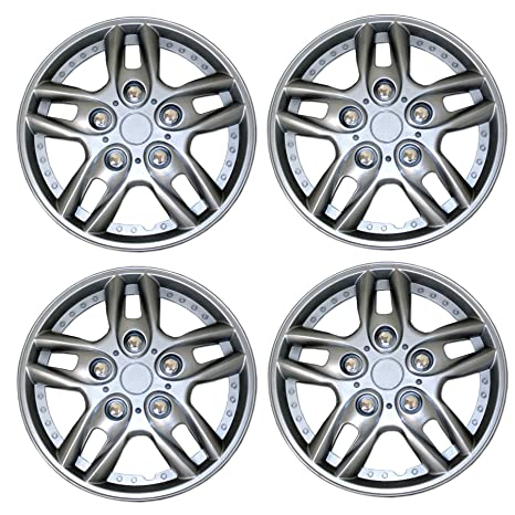 Amazon.com: Tuningpros WC3-15-515-S - Pack of 4 Hubcaps - 15-Inches Style 515 Snap-On (Pop-On) Type Metallic Silver Wheel Covers Hub-caps: Automotive