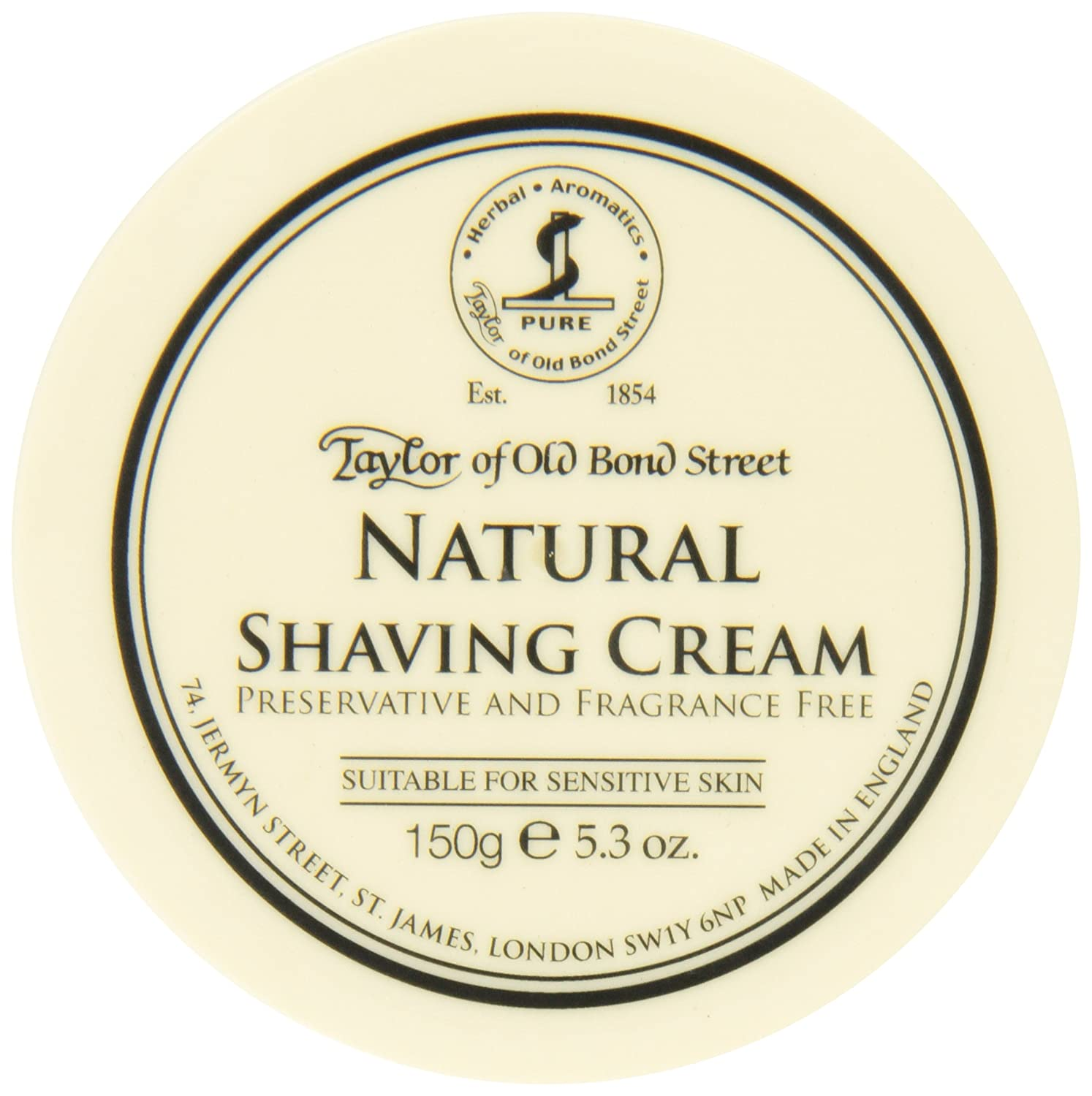 Taylor of Old Bond Street Natural Shaving Cream Bowl, 150 Gram Spicy World of USA Inc 01019