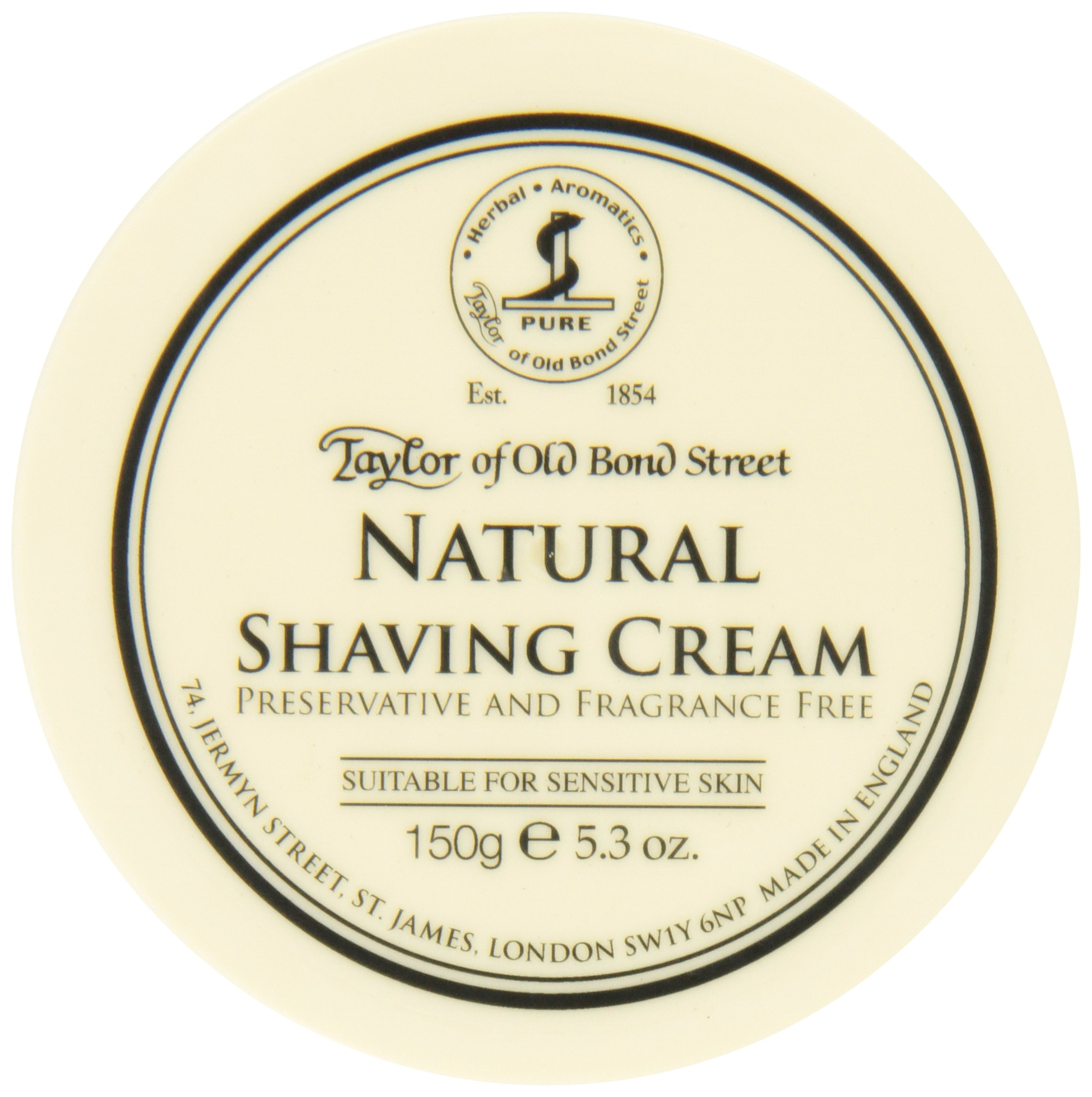 Taylor of Old Bond Street Natural Shaving Cream Bowl, 5.3 Ounce