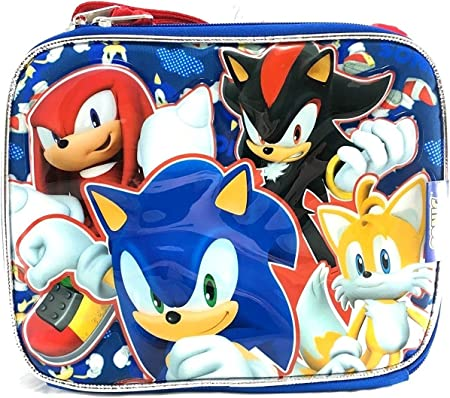 Sega Sonic The Hedgehog Team Tail Knuckles Shadow Insulated Blue Lunch Bag Amazon Co Uk Kitchen Home