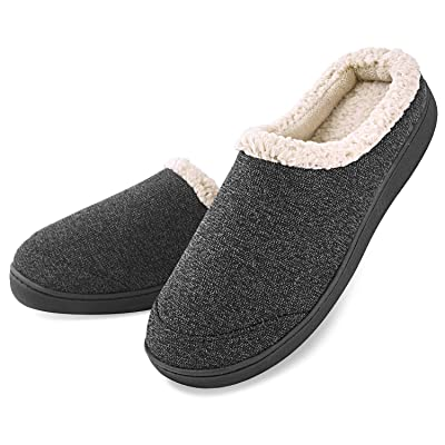 1988 Marco M.Kelly Men's Two-Tone Memory Foam Anti-Slip House Indoor/Outdoor Breathable Warm Suede Slippers Shoes | Slippers