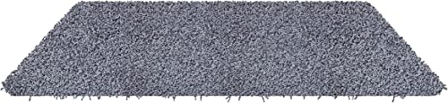 Koeckritz 4 x6 Blue Bell Shaggy Indoor Area Rug – Shaggy Carpet for Residential or Commercial use with Premium Bound Polyester Edges.