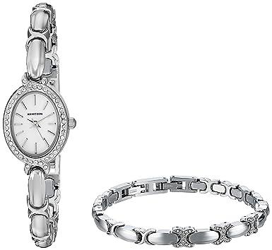 Amazon Com Armitron Women S 75 5395mpsvst Swarovski Crystal